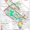 Karte von Laatzen-Mitte, die die einzelnen Baugesellschaften und Eigentumsvertretungen aufzeigen