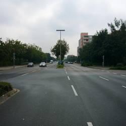 Marktstraße mit Blick von der ehemaligen Robert-Koch-Straße jetzt Marktplatz in Richtung Wülferoder Straße