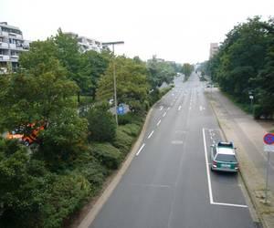Marktstraße mit Blick von der Brücke in Richtung Wülferoder Straße