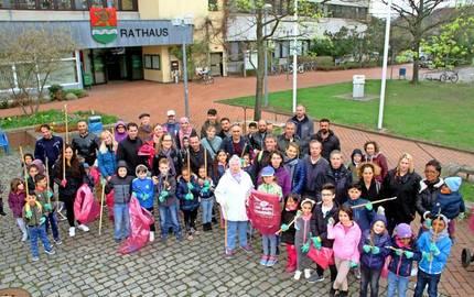 Teilnehmergruppe von oben