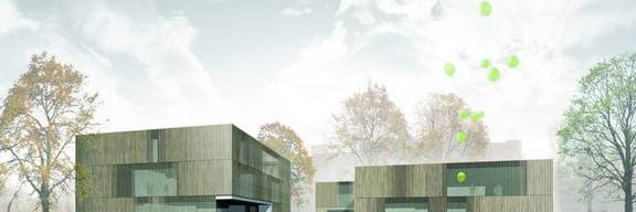 3D Fotodarstellung der Planung des Stadthauses