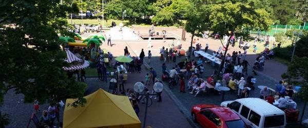 Sommerfest Sicht von Galerie